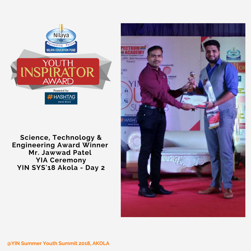 Youth Inspirator Award - Jawwad Patel
