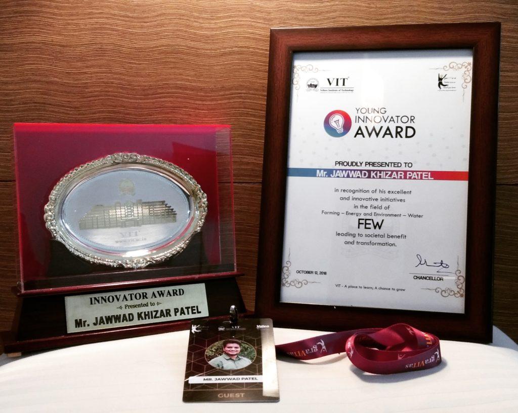 Jawwad Patel, Scientist Young Innovator Award