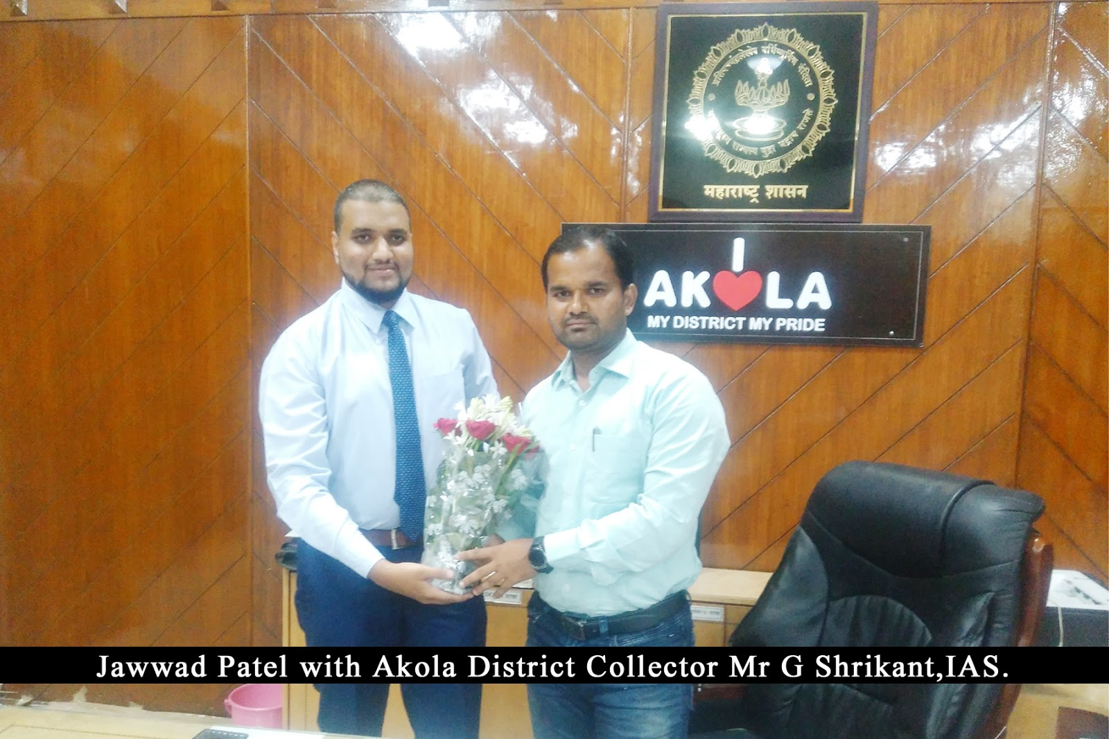 Jawwad Patel with Collector Akola