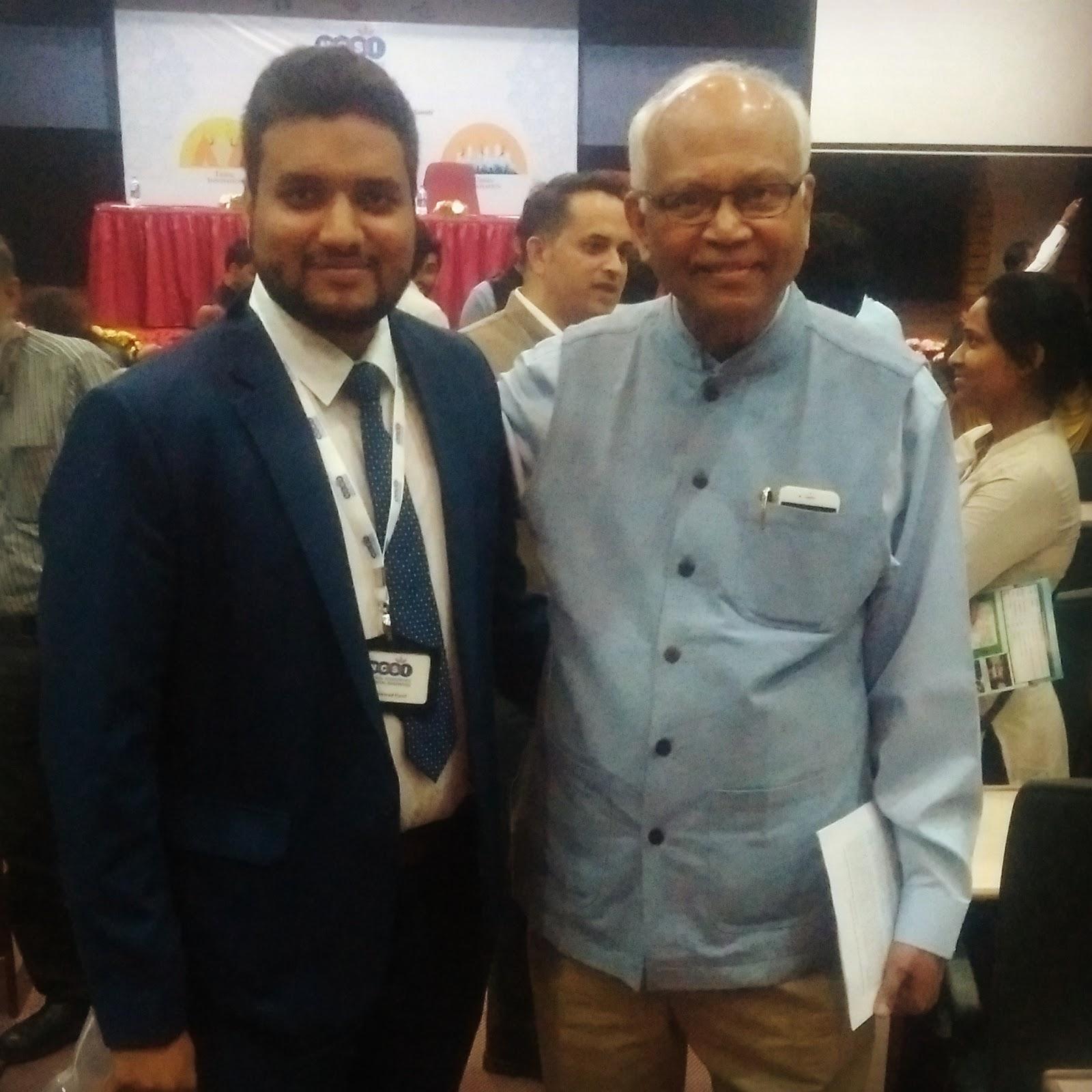 Jawwad Patel with Dr Mashelkar